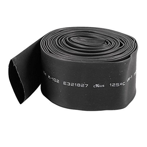 sourcingmap 3 Mètres 20mm Diamètre Ratio 2:1 Chaleur Rétrécissant Rétrécissement Tuyau Noir