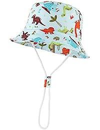 GEMVIE Bambino Unisex Berretto Stampato Dinosauro Cappello da Sole Bimba  Fishmen Pescatore Cappellino Hat 23273ac29b30