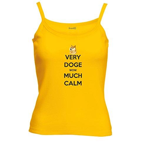 Brand88 - Very Doge Wow Much Calm Spagetti Traeger Top Sonnenblumen Gelb