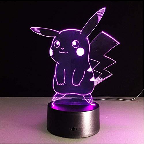 Neue Pokemon Lampe 3D Pikachu Nachtlicht Halloween Kinder Spielzeug Weihnachtsgeschenke Usb Nachtlampe