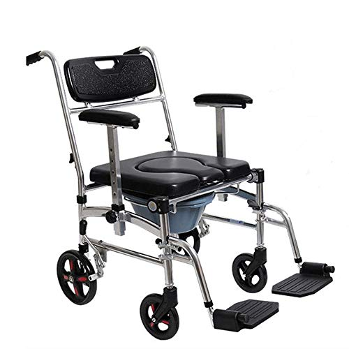 HWZLOIK Rollstuhl Deluxe Rollstuhl, Erhebend Fußstützen, Schreibtisch-Länge Armauflagen, Ältere Intelligent Compact Automatic bewegliches leichtes Scooter, 60x80x100cm -