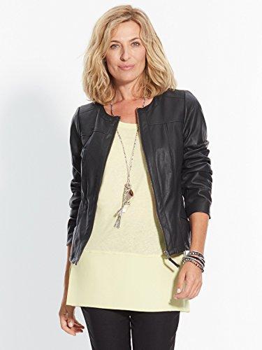 Balsamik - Tee-shirt bi-matière, stature - d'1,60m - femme Jaune