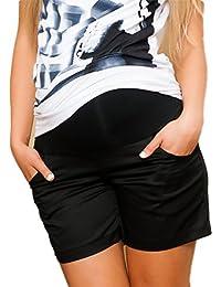 Mija - Kurze Umstandsshorts/Umstandshose mit Bauchband für Sommer 9038