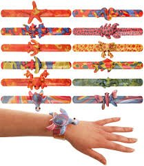 Teeliya® » 12 x Snap Bracelets ✮ Animal ✮ Wristband ✮ Snap Slap Band ✮ Novelties ✮ Party Bag Fillers