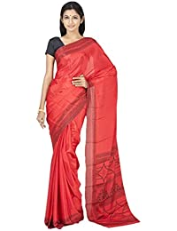 The Chennai Silks - French Crepe Saree - Red - (CCPSY64)