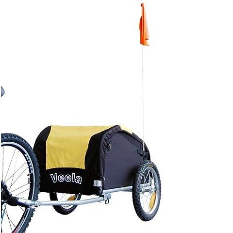 """16"""" Remorque à bagages pour vélo NOUVEAU & EMBALLAGE ORIGINAL 20217 jaune/noir"""