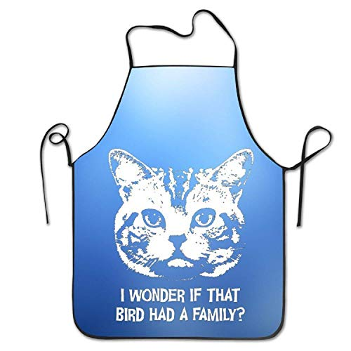 HTETRERW Cute Cat Bird Had A Family Cool Women's Men's Funny Creative Print Cooking Aprons
