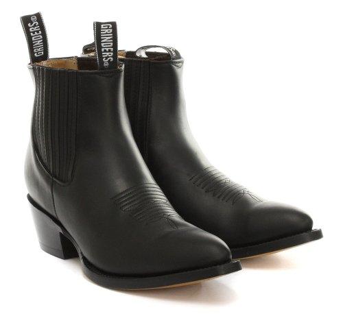 Grinders Maverick Homme Cowboy bottes, noir Noir