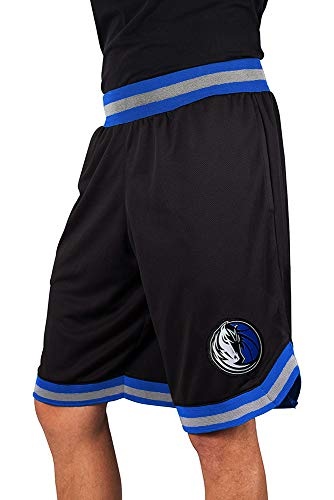 NBA Herren Mesh Basketball Shorts Woven Active Basic, Team Logo schwarz, Herren, GSM3547F, schwarz, XX-Large