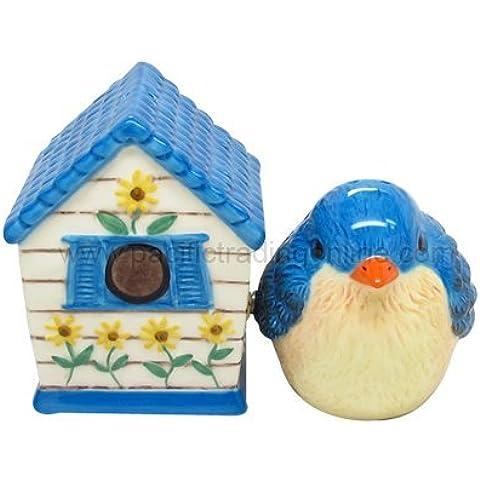 Set sale pepe &-Casetta per uccelli, in ceramica e-9089
