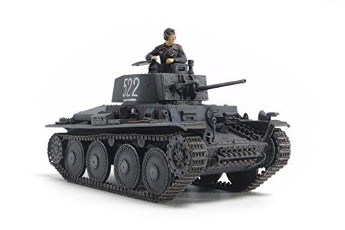 Tamiya - modellino carro armato seconda guerra mondiale, versione e/f 38t, scala 1:48