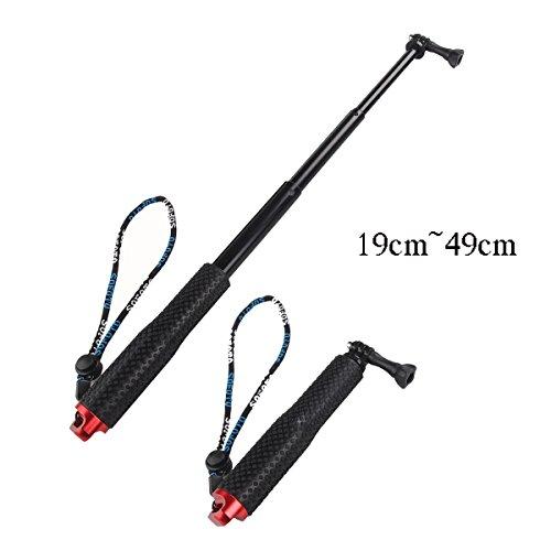 abcten extensible selfie stick barra de aluminio para GoPro Hero 4Sesión 19cm a 49cm