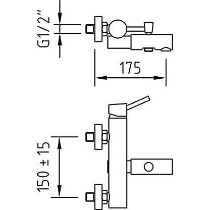Clever 93512 Grifo de baño/ducha (cromo)