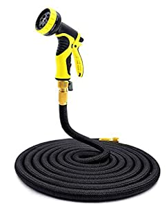 Garden Hose Pipe 100ft KINGTOP Expandable Magic Hose Stretch Hosepipe with 9 Function Spray Gun [Updated Version with 100% Satisfaction Guaranteed]