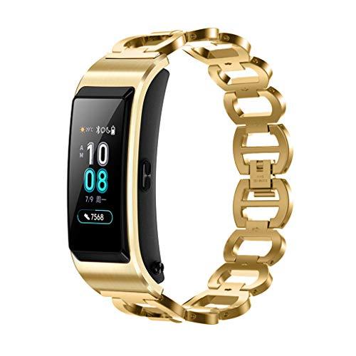 XZDCDJ Fitness Armband Smartwatch Damen, Aktivitätstracker Band Uhrenarmband Ersatzbänder Fitness Edelstahluhr für B5 Gold (Band Unterwäsche Crotchless)