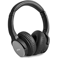 Headset Loffitle Wireless Foldable Headphone Noise Cancelling & Volume Control Adjustable Headband Comfortable With Mic for PC Computer Gaming Black