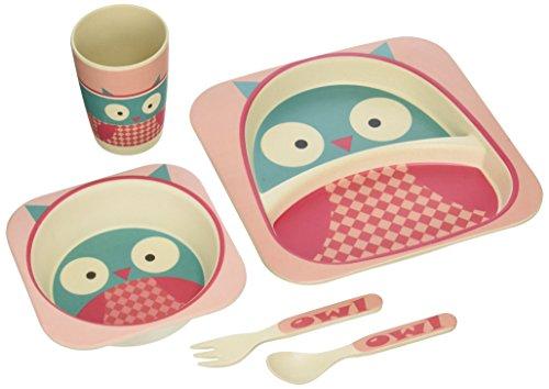 nandog-pet-gear-bamboo-fibre-owl-kids-plate-set