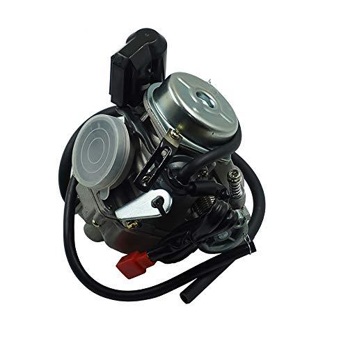 BGT Motorrad Zubehör Roller 24mm 125 150CC GY6 Motorrad Carb Vergaser Für Moped ATV Go Kart Roketa Sunl Tank (Farbe : Schwarz)