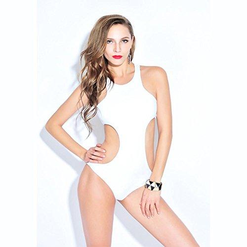 HHBO Frauen dreieckige Bikini Badeanzug weibliche Thermalquelle Bademode White 2xl