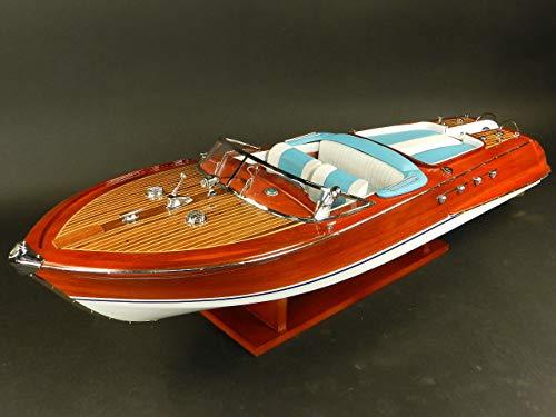 Générique modellino in legno del motoscafo riva aquarama, 87 cm, radio controllo possibile