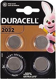 Duracell Özel 2032 Lityum Düğme Pil 3V, 4'li paket (CR2032) anahtarlıklar, tartılar, giyilebilen eşyalar v