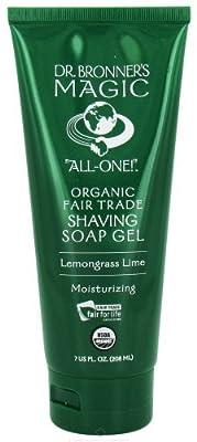 Dr. Bronner's Certified Organic Body Care Lemongrass Lime Shaving Gels 7 fl. oz. 221500