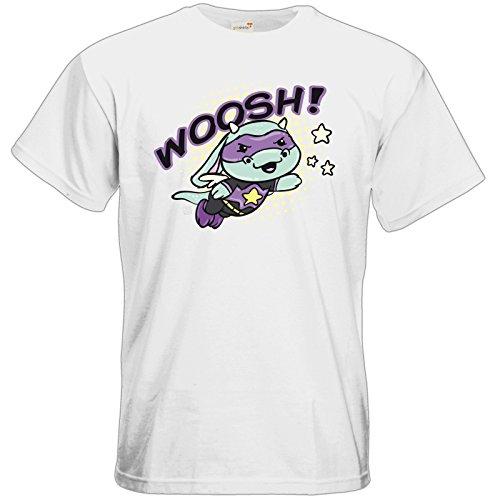 getshirts - Crapwaer - T-Shirt - Superhero - mooh White