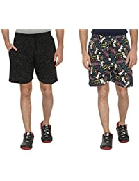 Bfly Combo Of Printed Men's Cotton Shorts - B01IN1JH06