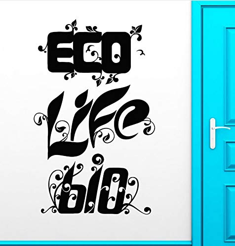 Qqasd Eco Life Bio-Wandaufkleber Greenpeace Environmental Health Nature Aufkleber 56x89cm (Bio-health-bars)