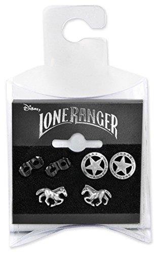 Zubehör - The Lone Ranger - Ohrringe - Satz von (Erwachsene Lone Für Kostüm Ranger)