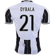 Camiseta 2016-2017 de local de Juventus FC, dorsal 21 de Paulo Dybala, hombre, cebra, small
