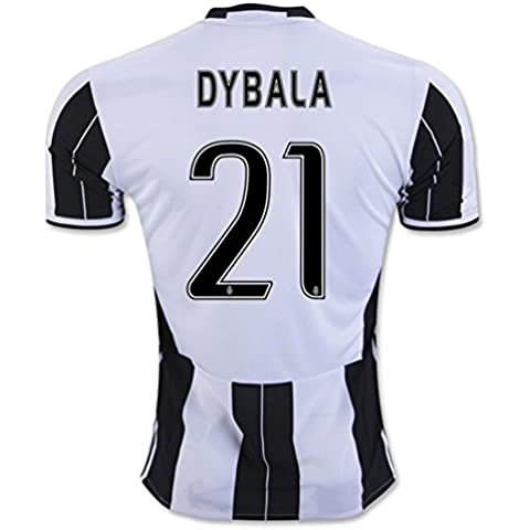 20162017Juventus FC Camiseta de 21Paulo Dybala casa fútbol Jersey Kit en Zebra, hombre, cebra,
