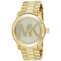 مايكل كورس ساعة للنساء بمينا لون ذهبي و سوار من الستاينلس ستيل - [MK5473]