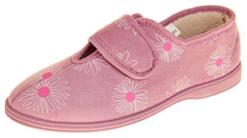 Dunlop Mujer Gamuza Sintética Forro Cálido Textil Zapatillas Color de Rosa EU 38