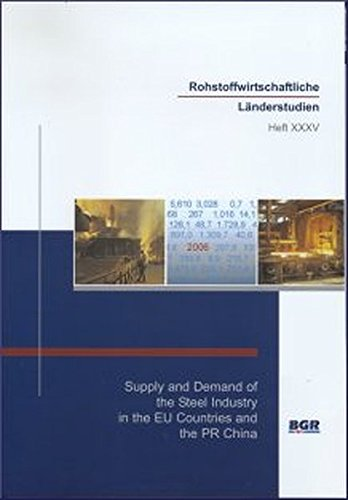 Supply and Demand of the Steel Industry in the EU Countries and the PR China (Rohstoffwirtschaftliche Länderstudien)