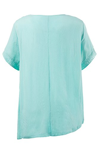 Ulla Popken Femme Grandes tailles Blouse 710375 turquoise clair