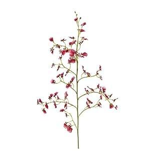 Sia Home Fashion 93 cm Polyester Oncidium Orchidée à tige Fleur Rose
