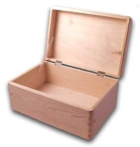 werkzeugbox aus holz unbehandelt naturbelassen diy aufbewahrungsbox mit deckel ohne. Black Bedroom Furniture Sets. Home Design Ideas