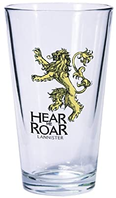 Game of Thrones Pint Glass: Lannister