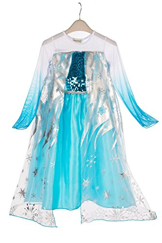 Imagen de elsa & anna® princesa disfraz traje parte las niñas vestido girls princess fancy dress es dress305 sep 3 4 años, es sep305  alternativa