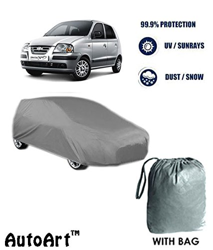 fabtec premium heavy duty car body cover- hyundai santro xing with storage bag free (tirpal) Fabtec Premium Heavy Duty Car Body Cover- Hyundai Santro Xing With Storage Bag Free (Tirpal) 415pabCpa4L