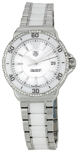 TAG-Heuer-Womens-Analogue-Watch-with-white-Dial-Analogue