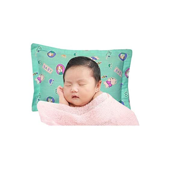 AVM. Mustard Seed Head Shaping Pillow for New Born Baby with Extra Cover (0 to 12) Months