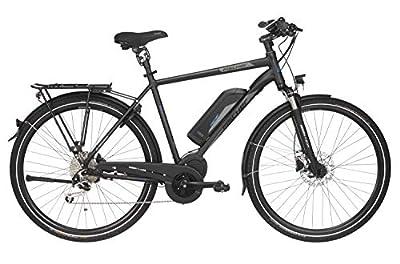 "FISCHER Herren - E-Bike Trekking ETH 1861.1 (2019), schwarz matt, 28"", RH 50 / 55 cm, Mittelmotor 80 Nm, 48V Akku"