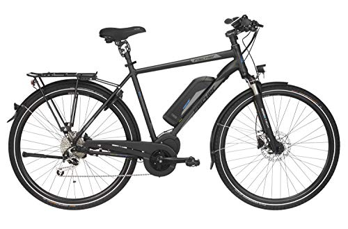 Fischer Herren - E-Bike Trekking ETH 1861.1, schwarz matt, 28 Zoll, RH 50 oder 55 cm, Mittelmotor 80 Nm, 48 V Akku