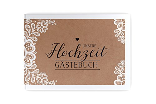 bigdaygraphix Gästebuch mit Fragen Sweet Vintage a4 104 Seiten Hardcover