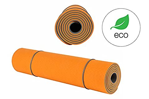 Yoga Mat KeenFlex - SGS Certified, Extremly Comfort Non Slip Extra Long 6mm Thick for Pilates Home Exercise Eco Friendly + Carry Strap