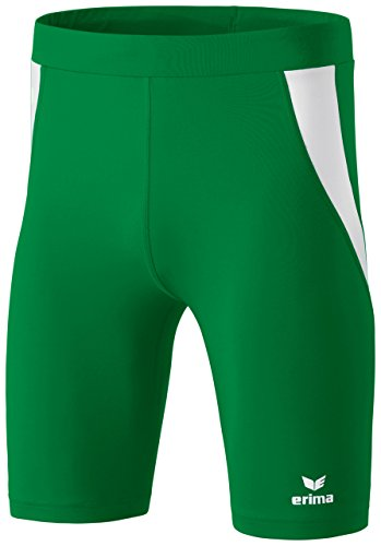 erima Erwachsene Laufhose Short Tight Smaragd/Weiß, L - Grün Panty Kurz