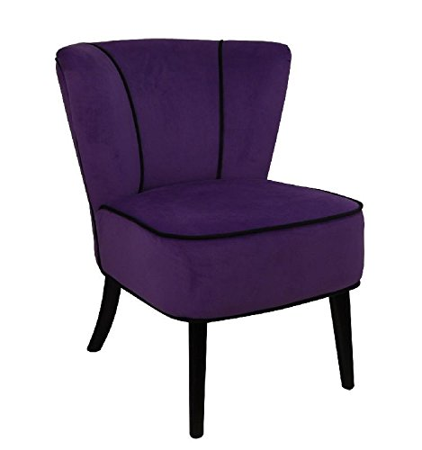 So Skin Fauteuil Crapaud Violet Aspect Velours