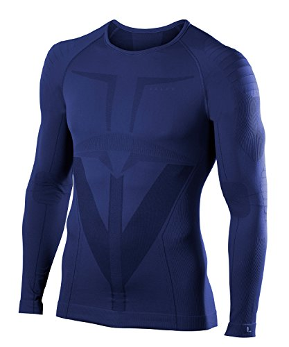 FALKE Herren Warm Longsleeved Shirt Tight Fit Men Sportunterwäsche, Dark Night, XL Preisvergleich
